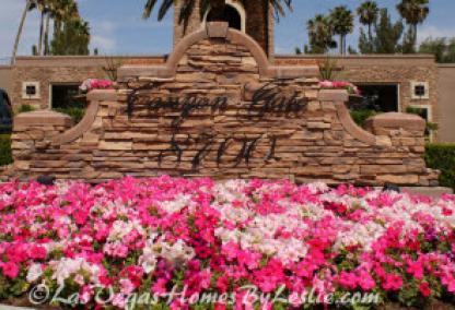 Canyon Gate Neighborhood Community Homes Las Vegas